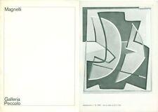 MAGNELLI Alberto, Plaquette di mostra. Livorno, Galleria Peccolo, gennaio 1975