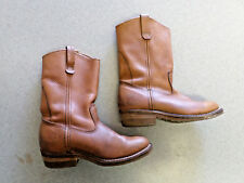 Red Wing brown leather, 9 in. tall, work boots, Men's 8 E made in USA
