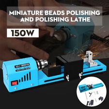 150W DIY Mini Wood Lathe Bead Cutting Machine Drill Polishing Woodworking  U