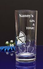Personalised Engraved GIN & TONIC Hiball mixer glass birthday/Present by jevge25