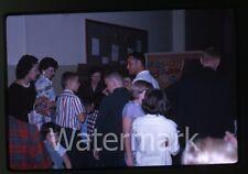 1962 kodachrome Photo slide teen girls and boys at carnival games  Oregon #3