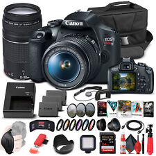 Canon EOS Rebel T7 DSLR Camera W/ 18-55mm and 75-300mm Lenses - Advanced Bundle