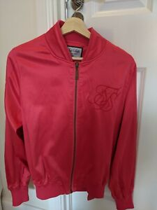 SikSilk Mens Bomber Jacket Pink Size Small S (Good Condition)