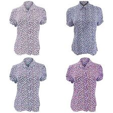 Waist Length Polyester Collared Tops & Shirts for Women