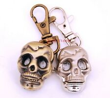 Lovely 10pcs Skull Punk Boys girls lady Key Ring watches gifts LK10-FREE P&P