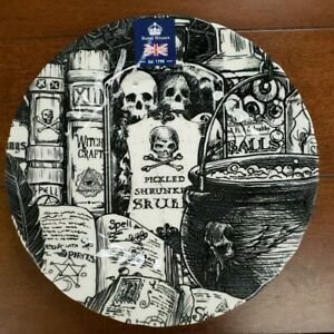 NWT Royal Wessex Halloween Potion Cauldron Witchcraft Books Salad Plate
