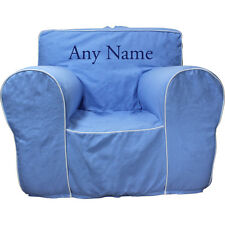 Insert For Pottery Barn Anywhere Chair +Light Blue Cover Reg Size Embroided Blue