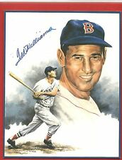 """TED  WILLIAMS HAND SIGNED ORIGINAL  AUTOGRAPH  AUTHENTICATED 8 X 10""""  LITHOGRAPH"""