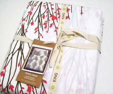 West Elm Multi Colors Sakura Tree Blossom Cotton King Duvet Cover New