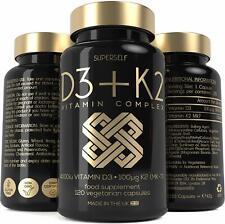 Vitamin D3 K2 - 120 Capsules - Vitamin D 4000IU Vit K2 MK7 100mcg High Strength