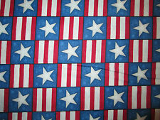 STARS STRIPES BLUE RED USA AMERICA MILITARY COTTON FABRIC FQ