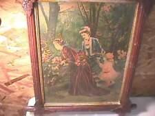 1879 George Stinson Victorian Prints Leaf Frames- Pair