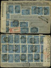 GERMANY INFLATION to DUTCH EAST INDIES CENSORED + REGISTERED
