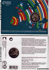 Portugal 2 Euro Gedenkmünze Euromünze coin Jahr 2007 Präsidentschaft Coincard BU