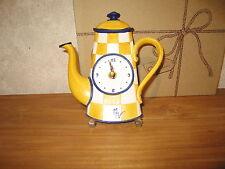 ORVAL *NEW* Pendule Cafetière jaune 19x18cm à suspendre