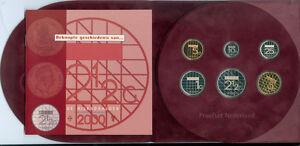 Niederlande Gulden-Kursmünzensatz 2000 PP Der Millenniumssatz! (8,90 Gulden)