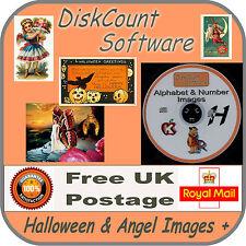 970 vintage angels/fairies etc PLUS 960 vintage Halloween Pics