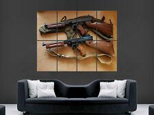 Arma M1 Thompson pared gigante Submachine Gun arte cartel impresión de foto grande