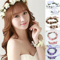Floral Crown Head Wreath Flower Headband Hair Garland Wedding Photo Headpiece#