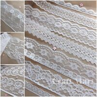 VINTAGE antique off White/Ivory LACE RIBBON WEDDING TRIM Bridal Shabby dress New