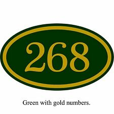 "Personalized House Address Number Sign Aluminum Plaque 12"" x 7"" Custom Colors"