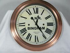 More details for reproduction bingham railway station g.n .r. clock, fantastic clock 16