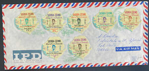 1964 Sierra Leone Airmail First Day Cover To Tel Aviv Israel John Kennedy Issue