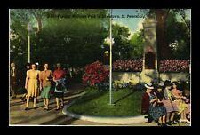 US LINEN POSTCARD POPULAR WILLIAMS PARK IN DOWNTOWN ST PETERSBURG FLORIDA
