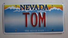 "NEVADA Vanity License Plate "" TOM "" THOMAS TOMMY THOM TOMMIE TOMI"