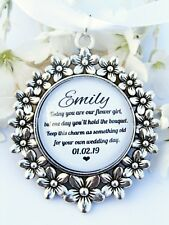 Flower Girl Bouquet Charm Something Old Quote Flowers Wand Charm Wedding Gift