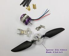 MBLO26K36P3: 1x KV3600 BL Motor L28xD26mm w/Prop.6.5x4 inch FW:400g for RC Plane