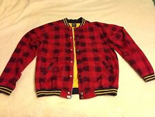 DC Shoe Men's Jacket - Red/navy Plaid Size Large NBG
