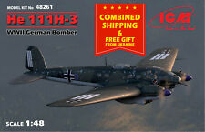ICM 48261 - 1/48 HE 111H-3 Aircraft German Bomber, WWII, scale model