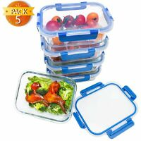 BlueHills Premium Glass Meal Prep Lunch Containers with Snap Lock Lids Glass ...