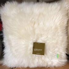 40 X 40cm Genuine Mongolian Sheepskin Lamb Wool Fur Cushion Cover - Burgundy