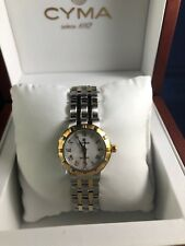 CYMA Ladie's 2 tone Silver & 18K Gold Plated 28 mm Watch