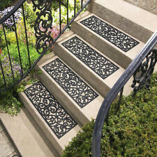 Outdoor Stair Treads 4Pcs Yard Flooring Tiles Non Slip Step Indoor Home Decor
