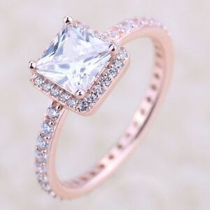 GENUINE S 925 ROSE GOLD TIMELESS ELEGANCE RING SIZE 56  LIMITED SALE INTRO OFFER