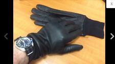 British Made Lightweight Motorcycle Biker Leather Gloves Size 8 25003