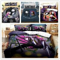 3D Nightmare Before Christmas Quilt Duvet Cover Doona Bedding Set Pillow case