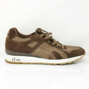 Asics Mens Gel HK41A Brown Running Shoes Lace Up Low Top Size 10.5