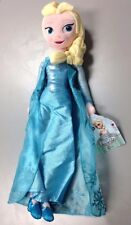 "Genuine Disney Store Frozen Beautiful Elsa Plush Doll 20"" w/ Great Details, NEW"
