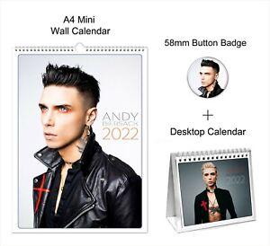 Andy Biersack Black Veil Brides 2022 A4 Wall + Desktop Calendar + Button Badge