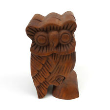 Owl Wood Puzzle Box Handmade Decorative Wooden Jewelry Trinket Box