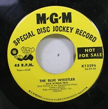 50'S & 60'S Promo 45 Dick Hyman Trio - The Blue Whistler / One Finger Piano On M
