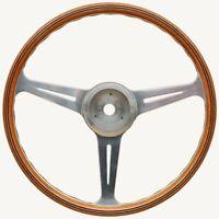 VDM Spyder Steering Wheel Walnut Rim Polished Spokes for Porsche 356 PreA & 356A
