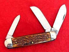 Made in USA (Camillus for Sears) rogers bone equal end stockman 1940's knife