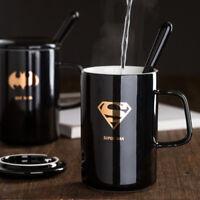 Cartoon Marvel's The Avengers Ceramic Coffee Mug With Cover Spoon Tea Cup 400ml