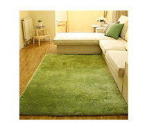Actcut Indoor Modern Shag Area Rug 2.6 x 5.3 Feet  Green