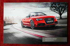 2012/2013 Audi RS5 Cabriolet Pricing & Specification Brochure